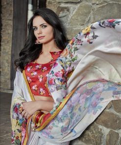 Buy Latest Digital or Floral Printed Designer Saree cash on delivery