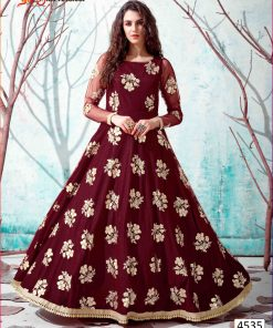 Gown Wholesaler Embroidery Printed Handwork Long Gowns