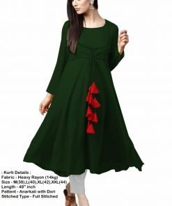Anarkali kurti with dori Latkan rayon 14 kg black color